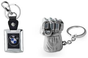 Three Shades Avengers keychain Hulk Silver Key Chain & BMW Car key chain Set of 2 Key chain