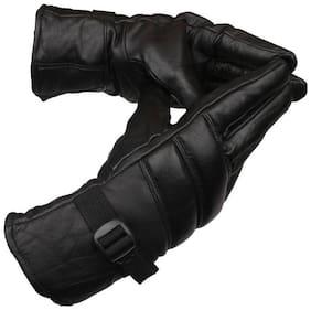 TLN 1 Dazzling Winter Gloves/Bike Gloves/Biker Gloves/Motorcycle/ Bike Racing/Riding/ Gym/Fitness / Full Fingers Gloves For Men - Black