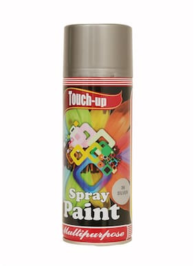 Touch-up Aerosol Spray Paint - Silver;Ready-to-Use Car;Bike;Spray Painting;Home & Furniture Spray Paint - 400 ml