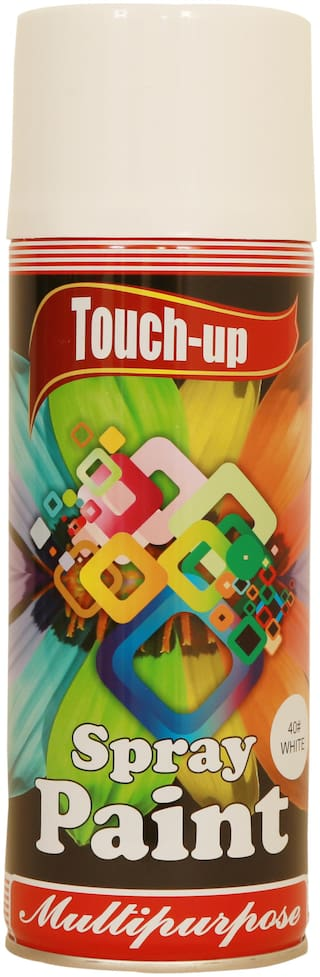 Touch-up Aerosol Spray Paint - White;Ready-to-Use Car;Bike;Spray Painting;Home & Furniture Spray Paint - 400 ml