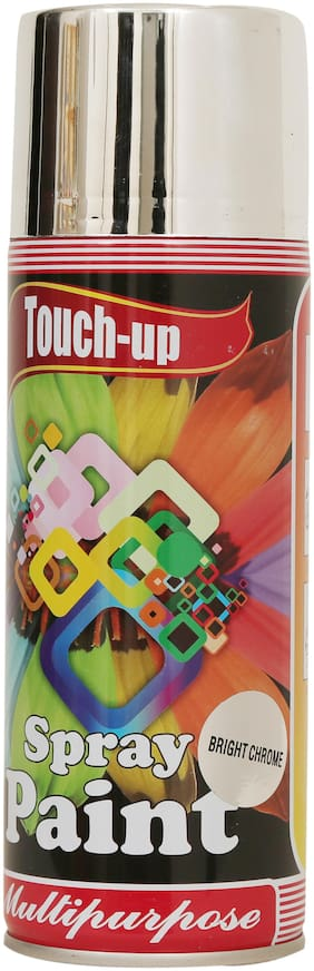 Touch-up Aerosol Spray Paint - Bright Chrome;Ready-to-Use Car;Bike;Spray Painting;Home & Furniture Spray Paint - 400 ml