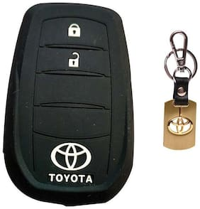 Toyota Crysta Key Cover With Toyota Premium Metal Key Chain