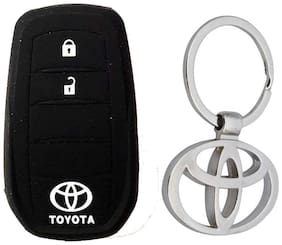 Toyota Innova Crysta Key Cover With Toyota Metal Key Chain