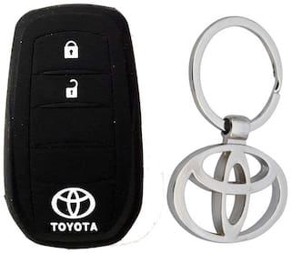 Toyota Innova Crysta Key Cover With Toyota Metal Key Chain