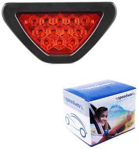 Auto Ryde Triangle shape Red 12 LED Brake Light with Flasher for CAR and Bike