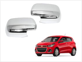 Trigcars Chevrolet Spark Car Side Mirrors Chrome Plated Cover Set Of 2