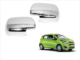 Trigcars Chevrolet Beat Car Side Mirrors Chrome Plated Cover Set Of 2