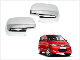 Trigcars Chevrolet Enjoy Car Side Mirrors Chrome Plated Cover Set Of 2