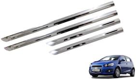 Trigcars Chevrolet Aveo Car Steel Chrome Side Beading