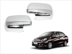 Trigcars Honda Amaze Car Side Mirrors Chrome Plated Cover Set Of 2