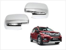 Trigcars Honda BR-V Car Side Mirrors Chrome Plated Cover Set Of 2