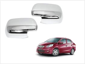 Trigcars Honda Amaze Old Car Side Mirrors Chrome Plated Cover Set Of 2
