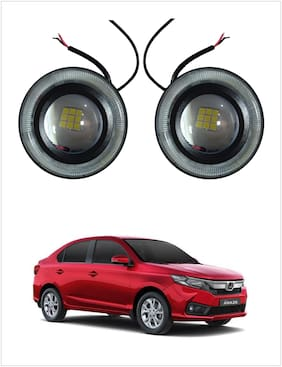 Trigcars Honda Amaze 2018 Car New Angel Eye Fog Lamp DRL Light (9 Led Panel)