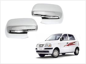 Trigcars Hyundai Santro Xing Gls Car Side Mirrors Chrome Plated Cover Set Of 2