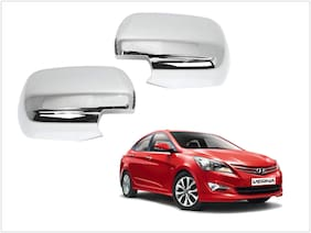 Trigcars Hyundai Verna Car Side Mirrors Chrome Plated Cover Set Of 2