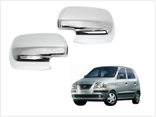 Trigcars Hyundai Santro Xing Gl Car Side Mirrors Chrome Plated Cover Set Of 2