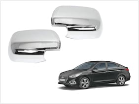 Trigcars Hyundai Verna 2018 Car Side Mirrors Chrome Plated Cover Set Of 2
