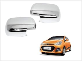 Trigcars Hyundai i10 Grand Car Side Mirrors Chrome Plated Cover Set Of 2