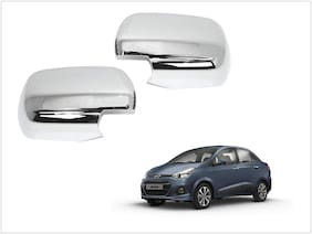Trigcars Hyundai Xcent Car Side Mirrors Chrome Plated Cover Set Of 2