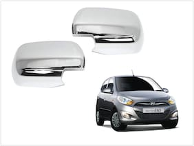 Trigcars Hyundai i10 Car Side Mirrors Chrome Plated Cover Set Of 2