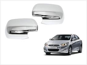 Trigcars Hyundai Verna Fluidic Car Side Mirrors Chrome Plated Cover Set Of 2