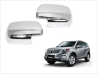 Trigcars Mahindra XUV 500 Car Side Mirrors Chrome Plated Cover Set Of 2