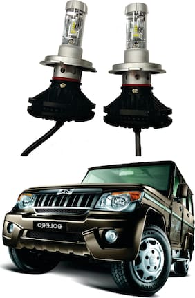 Trigcars Mahindra Bolero Car Glass LED Head Light + Free Gift Bluetooth 250/-