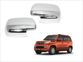 Trigcars Mahindra TUV 300 Car Side Mirrors Chrome Plated Cover Set Of 2
