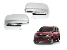 Trigcars Mahindra Xylo Car Side Mirrors Chrome Plated Cover Set Of 2