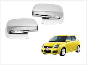 Trigcars Maruti Suzuki Swift 2015-2016 Car Side Mirrors Chrome Plated Cover Set Of 2