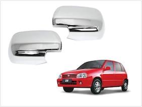 Trigcars Maruti Suzuki Zen Car Side Mirrors Chrome Plated Cover Set Of 2