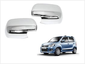 Trigcars Maruti Suzuki WagonR 2014-2018 Car Side Mirrors Chrome Plated Cover Set Of 2