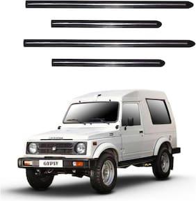Trigcars Maruti Suzuki Gypsy Car Side Beading With Chrome Line Set of 4