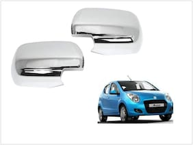 Trigcars Maruti Suzuki A Star Car Side Mirrors Chrome Plated Cover Set Of 2