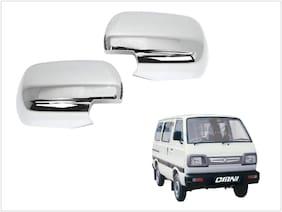 Trigcars Maruti Suzuki Omni Car Side Mirrors Chrome Plated Cover Set Of 2
