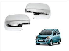 Trigcars Maruti Suzuki WagonR 2006-2009 Car Side Mirrors Chrome Plated Cover Set Of 2