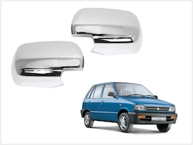 Trigcars Maruti Suzuki 800 Car Side Mirrors Chrome Plated Cover Set Of 2