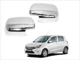 Trigcars Maruti Suzuki Celerio Car Side Mirrors Chrome Plated Cover Set Of 2