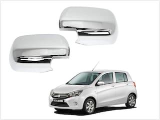 Trigcars Maruti Suzuki Celerio Car Side Mirrors Chrome Plated Cover Set Of 2