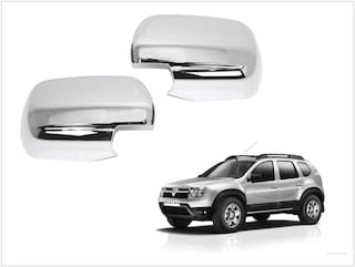 Trigcars Renault Duster Car Side Mirrors Chrome Plated Cover Set Of 2