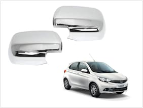 Trigcars Tata Tiago Car Side Mirrors Chrome Plated Cover Set Of 2