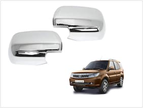 Trigcars Tata Safari Storme Car Side Mirrors Chrome Plated Cover Set Of 2
