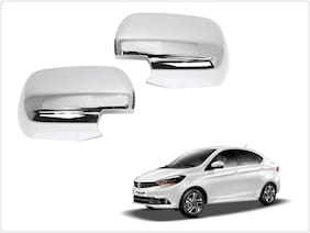 Trigcars Tata Tigor Car Side Mirrors Chrome Plated Cover Set Of 2