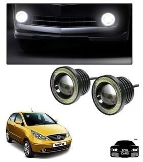 Trigcars Tata Indica Vista Car High Power Fog Light With Angel Eye+ 2 Free Gift 549/-