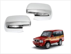 Trigcars Tata Sumo Gold Car Side Mirrors Chrome Plated Cover Set Of 2