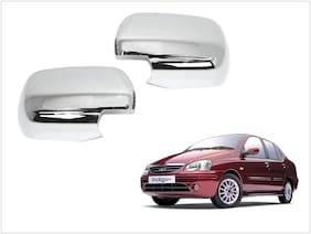 Trigcars Tata Indigo SX Car Side Mirrors Chrome Plated Cover Set Of 2