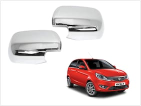 Trigcars Tata Bolt Car Side Mirrors Chrome Plated Cover Set Of 2