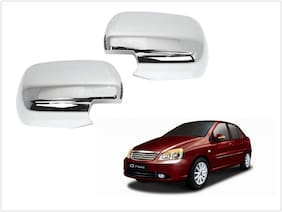 Trigcars Tata Indigo Cs Car Side Mirrors Chrome Plated Cover Set Of 2