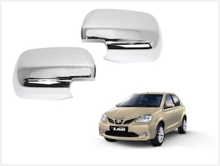 Trigcars Toyota Etios New Car Side Mirrors Chrome Plated Cover Set Of 2