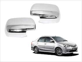 Trigcars Toyota Etios Old Car Side Mirrors Chrome Plated Cover Set Of 2